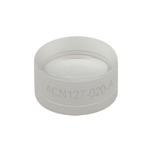 ACN127-020-A - f = -20.0 mm, Ø1/2in Achromatic Doublet, ARC: 400 - 700 nm