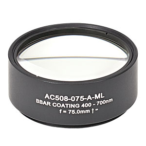 AC508-075-A-ML - f=75 mm, Ø2in Achromatic Doublet, SM2-Threaded Mount, ARC: 400-700 nm