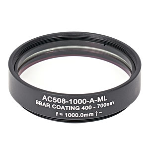 AC508-1000-A-ML - f=1000 mm, Ø2in Achromatic Doublet, SM2-Threaded Mount, ARC: 400-700 nm