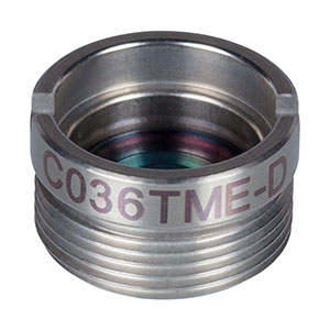 C036TME-D - f = 4.00 mm, NA = 0.56, Mounted Geltech Aspheric Lens, ARC: 1.8 - 3 µm