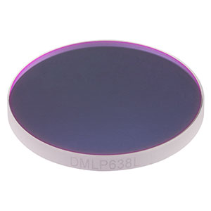 DMLP638L - Ø2in Longpass Dichroic Mirror, 50% Trans./Refl. at 638 nm