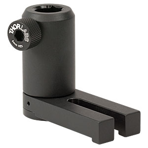 UPH50/M - Universal Post Holder, Spring-Loaded Locking Thumbscrew, L = 50 mm