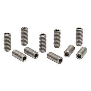 SS25E63D - 1/4in-20 Stainless Steel Setscrew with Hex on Both Ends, 5/8in Long, 10 Pack