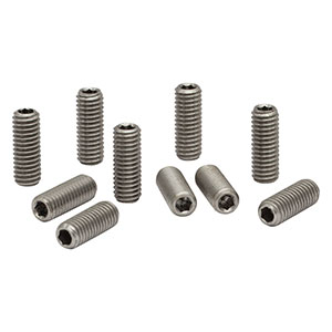 SS6M16D - M6 x 1.0 Stainless Steel Setscrew with Hex on Both Ends, 16 mm Long, 10 Pack