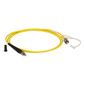 P2-980A-PCSMA-1 - Single Mode Patch Cable, 980 - 1550 nm, FC/PC to SMA, Ø3 mm Jacket, 1 m Long