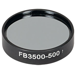 FB3500-500 - Ø1in IR Bandpass Filter, CWL = 3.50 µm, FWHM = 500 nm