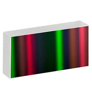GR2550-10106 - Ruled Reflective Diffraction Grating, 100/mm, 10.6 µm Design Wavelength, 25.0 x 50.0 x 9.5 mm