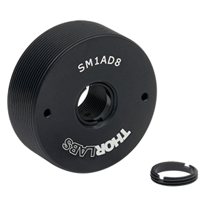 SM1AD8 - Externally SM1-Threaded Adapter for Ø8 mm Optic, 0.40in Thick