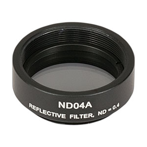 ND04A - Reflective Ø25 mm ND Filter, SM1-Threaded Mount, Optical Density: 0.4
