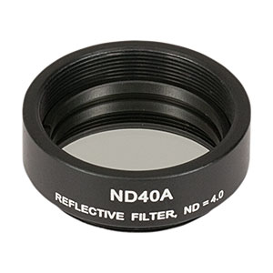 ND40A - Reflective Ø25 mm ND Filter, SM1-Threaded Mount, Optical Density: 4.0