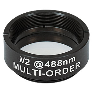 WPMH10M-488 - Ø1in Multi-Order Half-Wave Plate, SM1-Threaded Mount, 488 nm