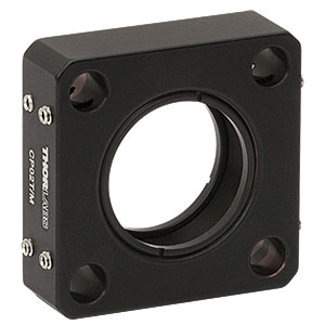 CP02T/M - SM1-Threaded 30 mm Cage Plate, 0.50in Thick, 2 Retaining Rings, M4 Tap