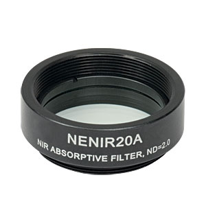 NENIR20A - Ø25 mm NIR Absorptive ND Filter, SM1-Threaded Mount, OD: 2.0