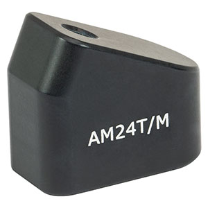 AM24T/M - 24° Angle Block, M4 Tap, M4 Post Mount
