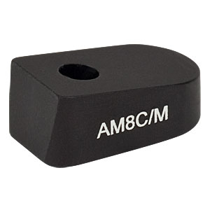 AM8C/M - 8° Angle Block, M4 Counterbore, M4 Post Mount