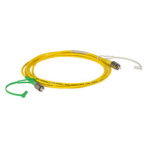 P5-SMF28E-FC-2 - Single Mode Patch Cable, 1260 - 1625 nm, FC/PC to FC/APC, Ø3 mm Jacket, 2 m Long