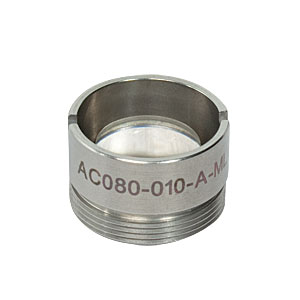 AC080-010-A-ML - f=10 mm, Ø8 mm Achromatic Doublet, M12x0.5 Threaded Mount, ARC: 400-700 nm