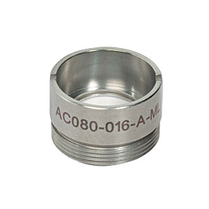 AC080-016-A-ML - f=16 mm, Ø8 mm Achromatic Doublet, M12x0.5 Threaded Mount, ARC: 400-700 nm