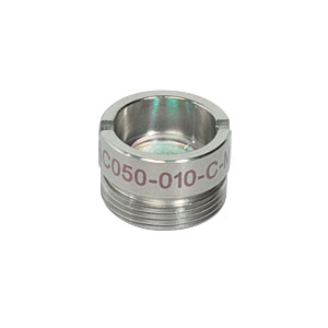AC050-010-C-ML - f=10 mm, Ø5 mm Achromatic Doublet, M9x0.5 Threaded Mount, ARC: 1050-1620 nm