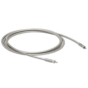 M100L02S-UV - Ø100 µm, 0.22 NA, SMA905-SMA905 AR-Coated MM Patch Cable, 250 - 370 nm, 2 m