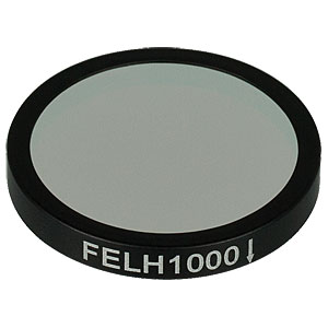 FELH1000 - Ø25.0 mm Premium Longpass Filter, Cut-On Wavelength: 1000 nm