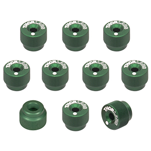 F25SSK1-GREEN - 1/4in-80 Removable Knobs, Green, Pack of 10