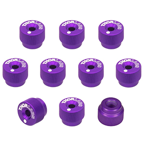 F25SSK1-PURPLE - 1/4in-80 Removable Knobs, Purple, Pack of 10