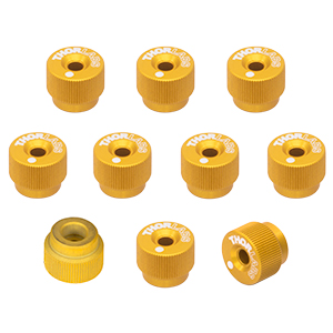 F25SSK1-GOLD - 1/4in-80 Removable Knobs, Gold, Pack of 10