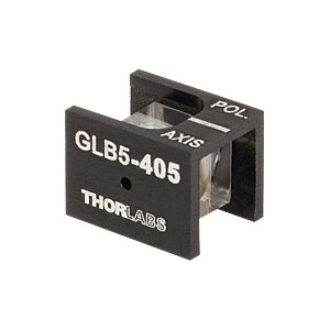 GLB5-405 - Glan-Laser alpha-BBO Polarizer, 5.0 mm CA, V Coated (405 nm)