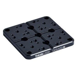 DDSA02/M - Grooved Mounting Plate for DDS220 Direct Drive Stage, Metric