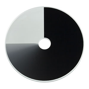 NDC-50C-4-A - Unmounted Continuously Variable ND Filter, Ø50 mm, OD: 0-4.0, ARC: 350 - 700 nm