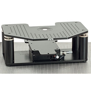 GB-AE - Manual Gibraltar Stage for Zeiss Axio Examiner Microscopes, Aluminum Platform with Base Plate