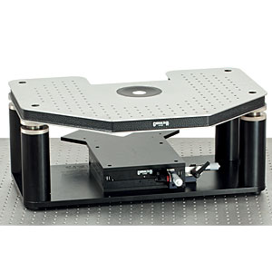GHB-BX - Manual Gibraltar Stage for Olympus Microscopes, Stainless Steel Platform with Base Plate