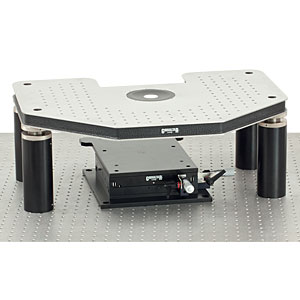GH-FN1 - Manual Gibraltar Stage for Nikon FN1 Microscopes, Stainless Steel Platform w/o Base Plate