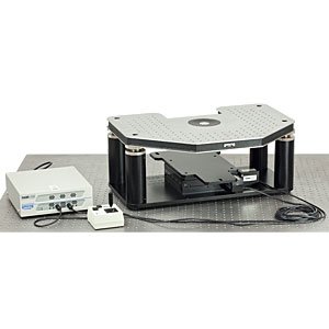 GMHB-AE - Motorized Gibraltar Stage for Zeiss Axio Examiner Microscopes, Stainless Steel Platform with Base Plate