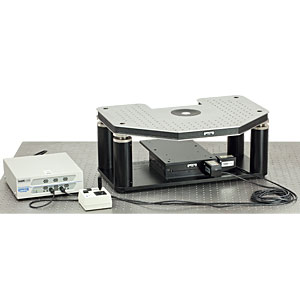 GMHB-LFS - Motorized Gibraltar Stage for Leica DM LFS Microscopes, Stainless Steel Platform with Base Plate