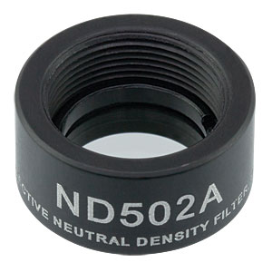 ND502A - Reflective Ø1/2in ND Filter, SM05-Threaded Mount, Optical Density: 0.2