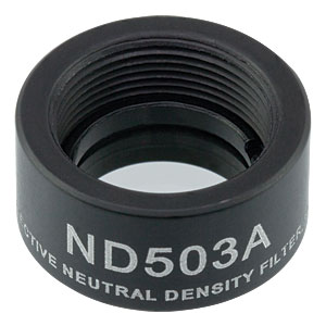ND503A - Reflective Ø1/2in ND Filter, SM05-Threaded Mount, Optical Density: 0.3