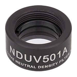NDUV501A - SM05-Threaded Mount, Ø1/2in UVFS Reflective ND Filter, OD: 0.1