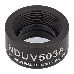 NDUV503A - SM05-Threaded Mount, Ø1/2in UVFS Reflective ND Filter, OD: 0.3