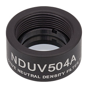 NDUV504A - SM05-Threaded Mount, Ø1/2in UVFS Reflective ND Filter, OD: 0.4