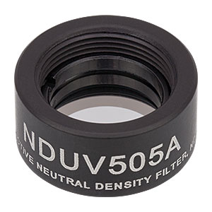 NDUV505A - SM05-Threaded Mount, Ø1/2in UVFS Reflective ND Filter, OD: 0.5