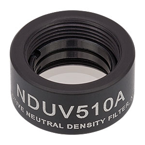 NDUV510A - SM05-Threaded Mount, Ø1/2in UVFS Reflective ND Filter, OD: 1.0