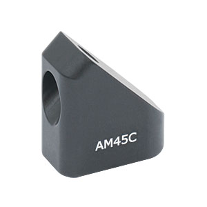 AM45C - 45° Angle Block, #8 Counterbore, 8-32 Post Mount