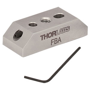 "FBA - Ø1/2"" Post-Mounting Adapter for FiberBench Accessories, 8-32 Thread"
