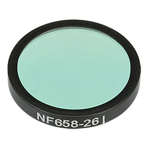 NF658-26 - Ø25 mm Notch Filter, CWL = 658 nm, FWHM = 26 nm