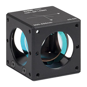 CM1-BP145B5 - 30 mm Cage Cube-Mounted Pellicle Beamsplitter, 45:55 (R:T), 300 - 400 nm