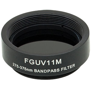 FGUV11M - Ø25 mm UG11 Colored Glass UV-Passing Filter, SM1-Threaded Mount
