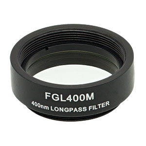 FGL400M - Ø25 mm SM1-Mounted Colored Glass Filter, 400 nm Longpass