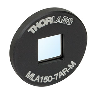 MLA150-7AR-M - Ø1in Mounted Lens Array, 400 - 900 nm AR Coating, Pitch = 150 µm, f=5.2 mm